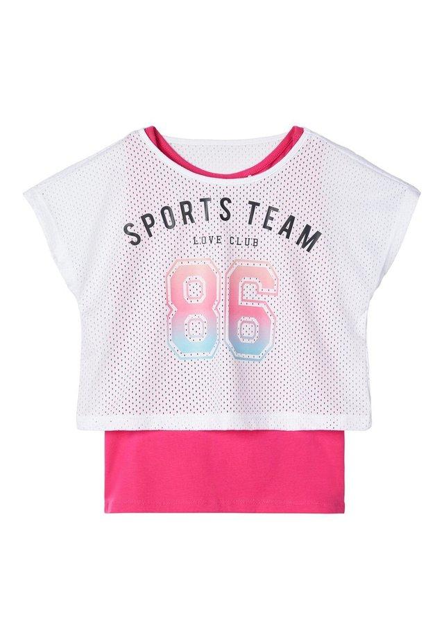NAME IT SPORTTOP BEDRUCKTES - T-shirt print - bright white