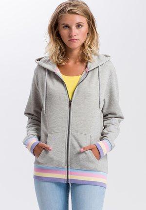 Zip-up hoodie - light grey meliert