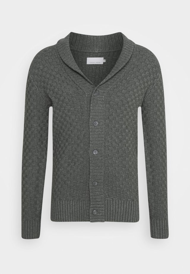 KALLE CARDIGAN - Strickjacke - grey