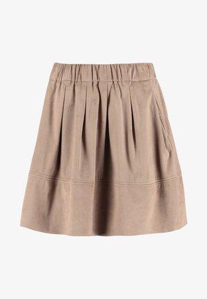 KIA - Pliceret nederdel /Nederdele med folder - warm sand