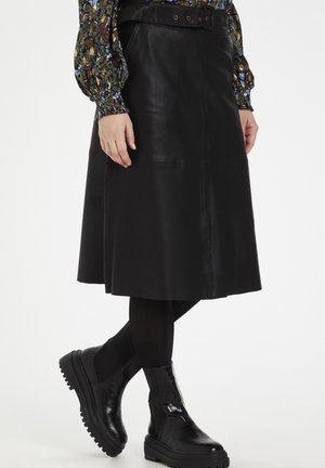 CUALINA  - A-line skirt - black