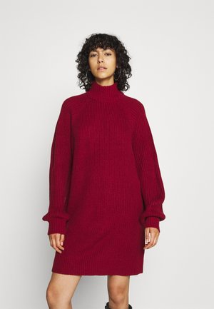 NMTIMMY DRESS - Strikket kjole - rhubarb