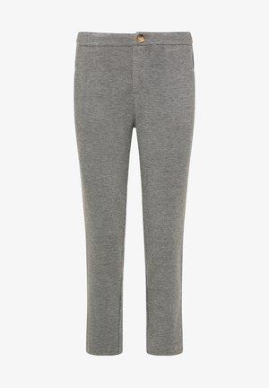 STOFFHOSE - Chino kalhoty - schwarz grau