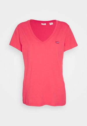 PERFECT V NECK - Triko s potiskem - poppy red