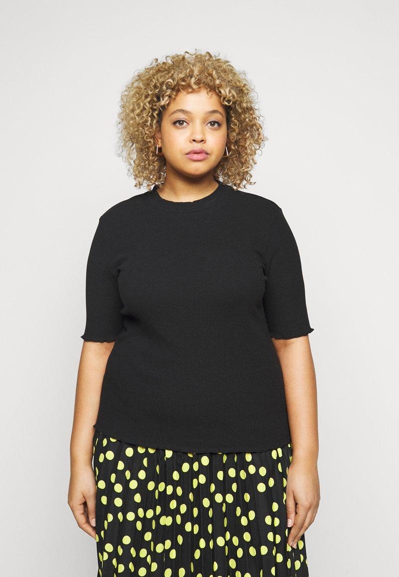 Selected Femme Curve - SLFNANNA CREW NECK TEE CURVE - Printtipaita - black