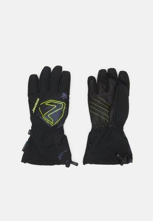 LARIL GLOVE JUNIOR - Handschoenen - black mountain/lime