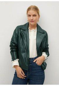 Violeta by Mango - ONETIOR8 - Leather jacket - dunkelgrün - 0