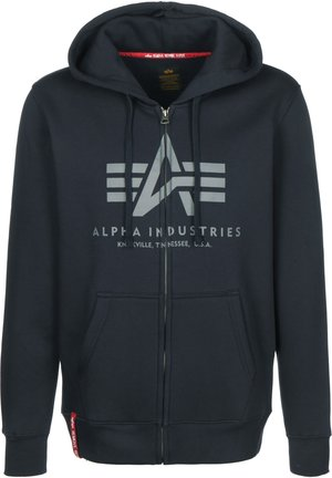 Zip-up hoodie - rep. blue