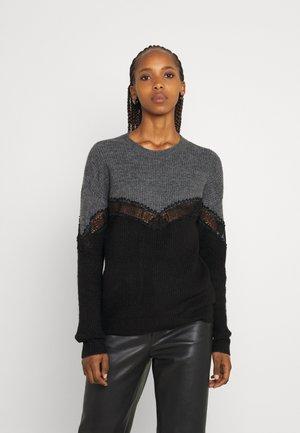 JDYDREA INSERT - Pullover - dark grey melange