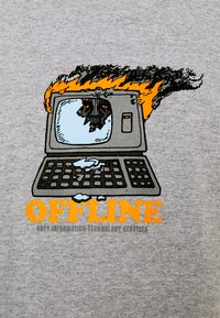 Obey Clothing - OFFLINE - Print T-shirt - heather grey - 2