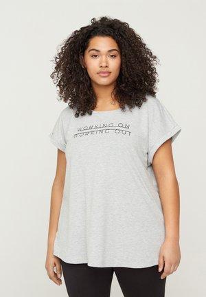 WITH PRINT - Print T-shirt - grey