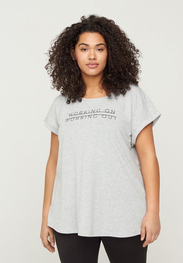 WITH PRINT - T-shirt print - grey
