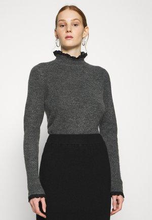 ONLELSIE - Jumper - medium grey melange/black