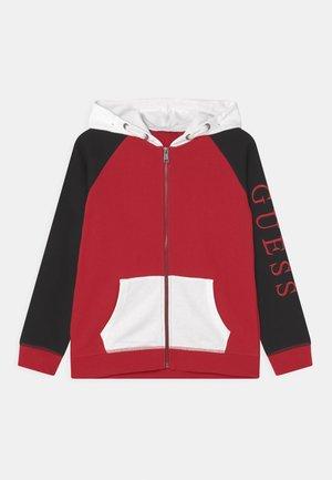 Felpa con zip - red/black
