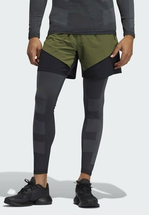 STU TURF SL LT PRIMEGREEN TECHFIT WORKOUT COMPRESSION LEGGINGS - Collants - black