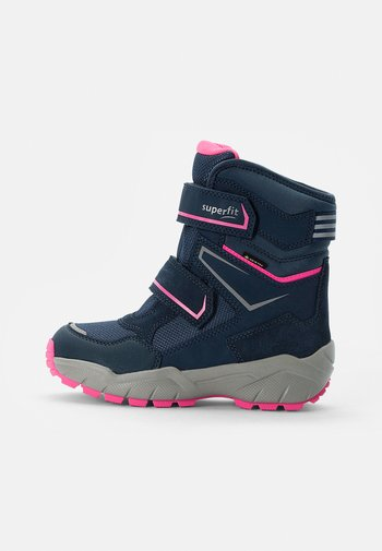 CULUSUK - Winter boots - blau/rosa
