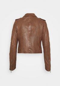 Oakwood - ALIZEE - Leather jacket - cognac - 7