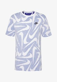 Nike Sportswear - HAND DRAWN TEE - T-shirt med print - deep royal blue/white - 3