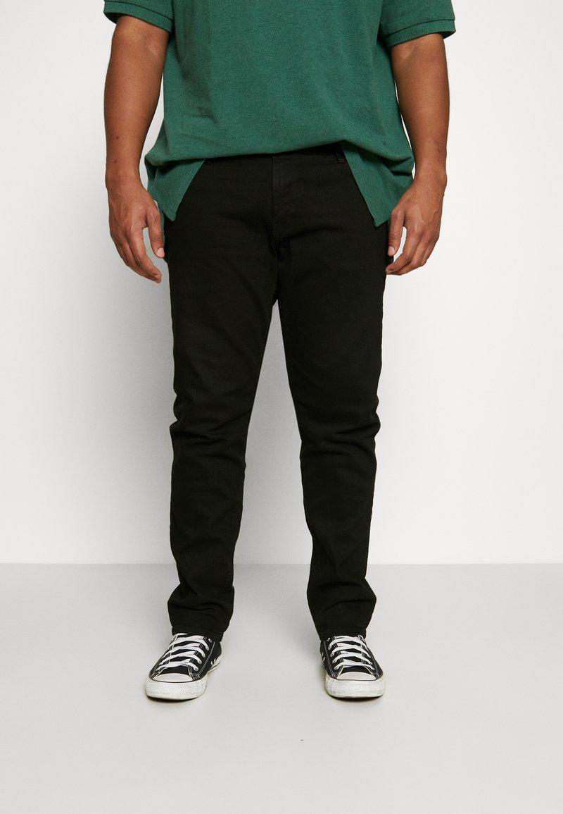 Jack & Jones - JJIGLENN JJORIGINAL - Straight leg jeans - black denim