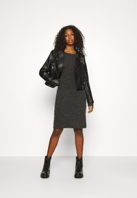 Noisy May - NMLUCIE ONECK DRESS - Jumper dress - dark grey melange - 1