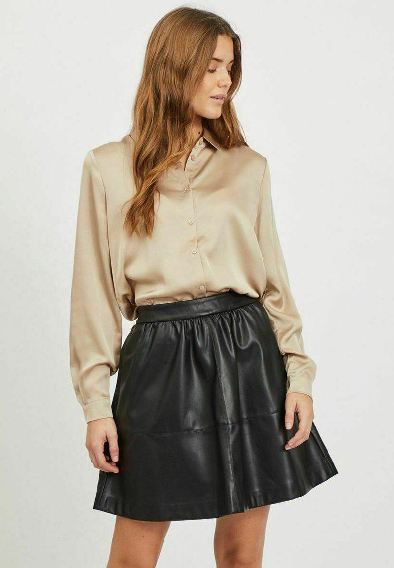 Vila - Button-down blouse - humus