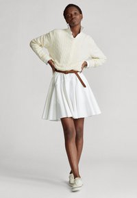 Polo Ralph Lauren - LONG SLEEVE CASUAL DRESS - Vestido camisero - white - 1