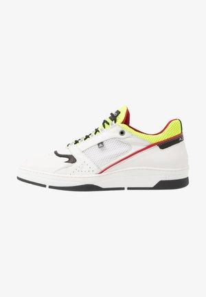 JOGG - Baskets basses - blanc/noir/jaune