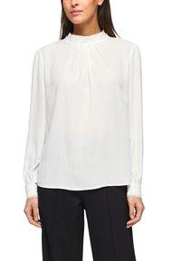 s.Oliver BLACK LABEL - MIT CHIFFON-BLENDE - Long sleeved top - cream - 0