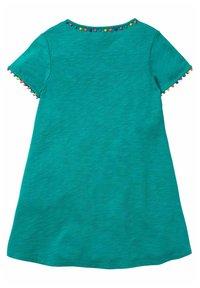 Boden - MIT REGENBOGENBORTEN - Jersey dress - smaragdgrün - 1