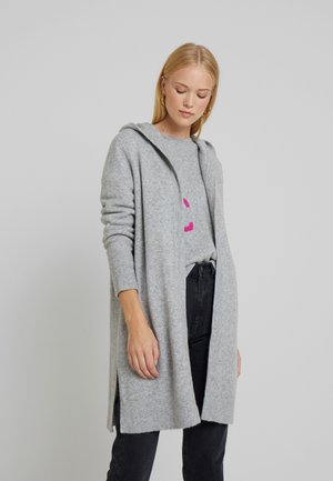 CARDIGAN LONG SLEEVE INTARSIA - Cardigan - stone