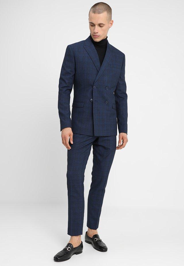FASHION CHECK SUIT - Suit - navy