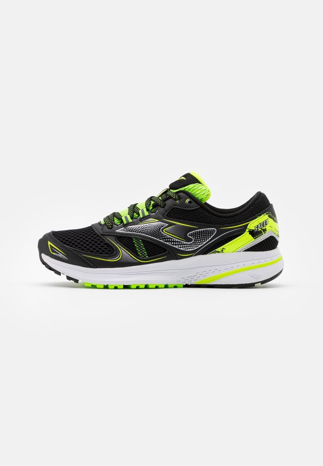 SPEED - Zapatillas de running neutras - black/lemon
