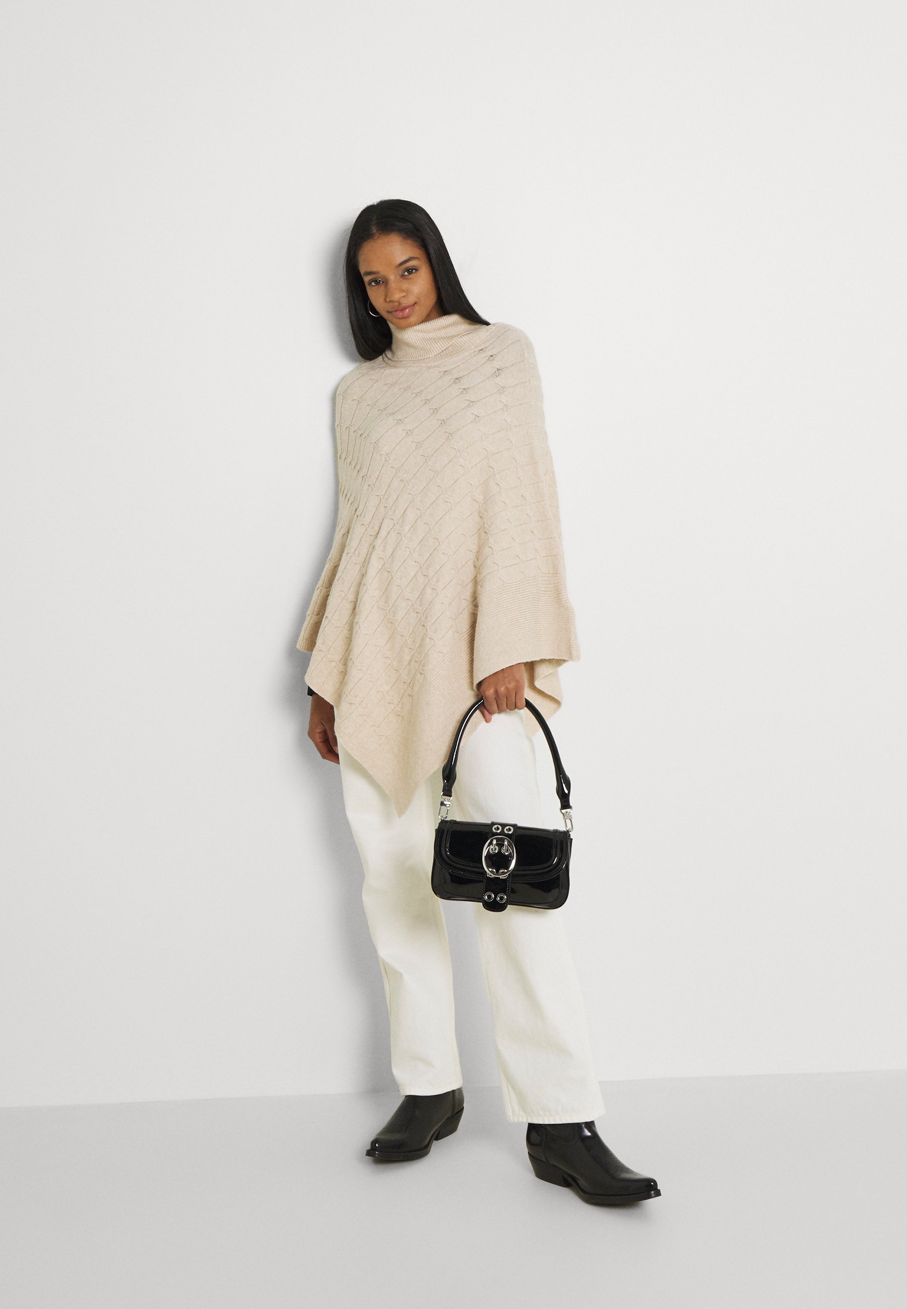 Women RUBY CABLE KNIT PONCHO - Cape