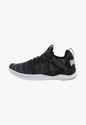 IGNITE FLASH EVOKNIT - Sports shoes - puma black/asphalt/puma white