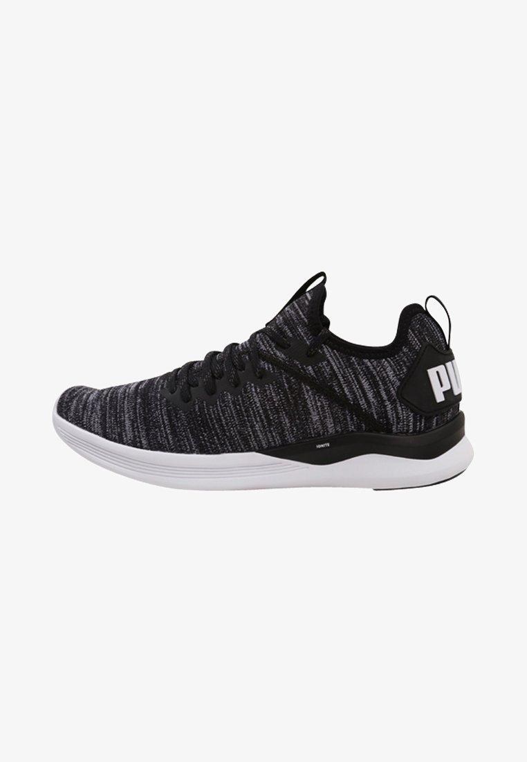 Puma - IGNITE FLASH EVOKNIT - Sports shoes - puma black/asphalt/puma white