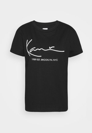 SIGNATURE TEE - T-Shirt print - black