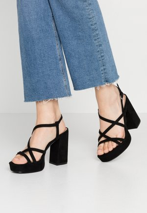 ONLAERIN HEELED CROSSOVER  - High heeled sandals - black