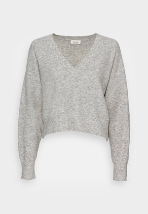 NOXON - Strikkegenser - heather grey