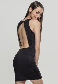 Urban Classics - BACK CUT OUT DRESS - Day dress - black - 1