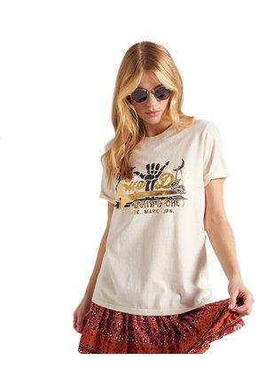 VL-ITAGO TEE - Print T-shirt - cream quartz