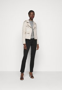 ONLY Tall - ONLSHERRY BONDED BIKER - Faux leather jacket - pumice stone - 1