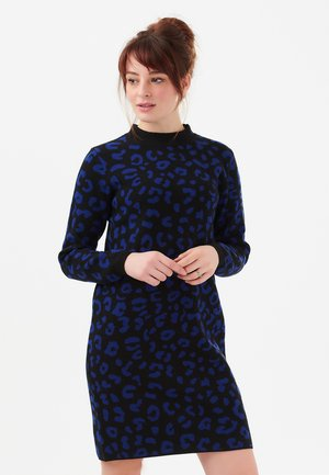 AXELLE LEOPARD - Jumper dress - black