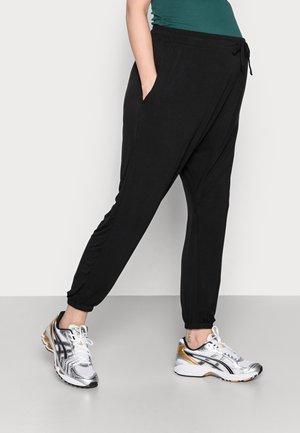 MATERNITY SUPER SOFT HAREM PANT - Spodnie materiałowe - black