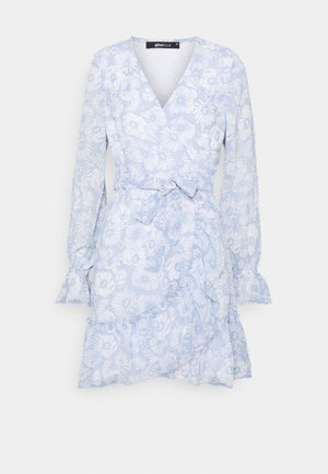 JULIANNA WRAP DRESS - Juhlamekko - blue