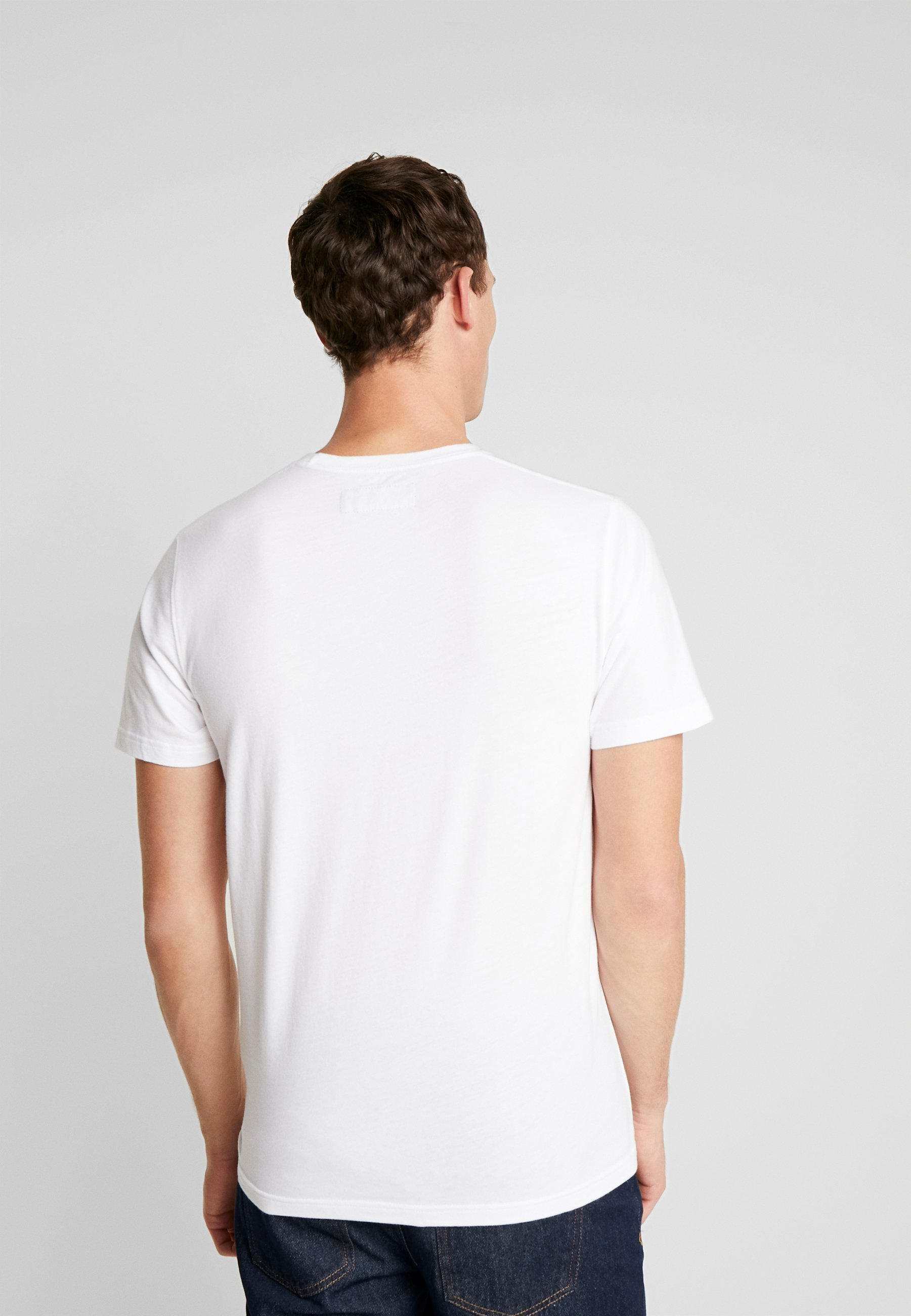 Abercrombie & Fitch POP ICON CREW  - Basic T-shirt - white KS16S