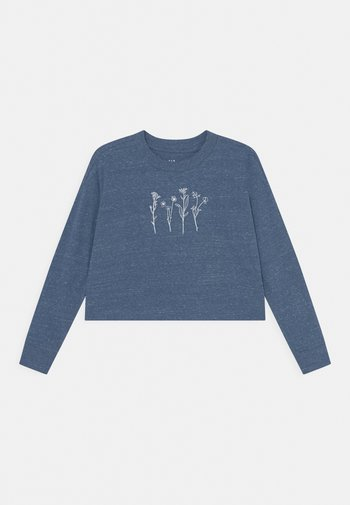 Long sleeved top - blue heather