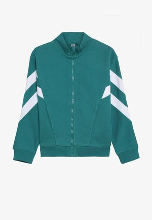 Zip-up hoodie - teal green