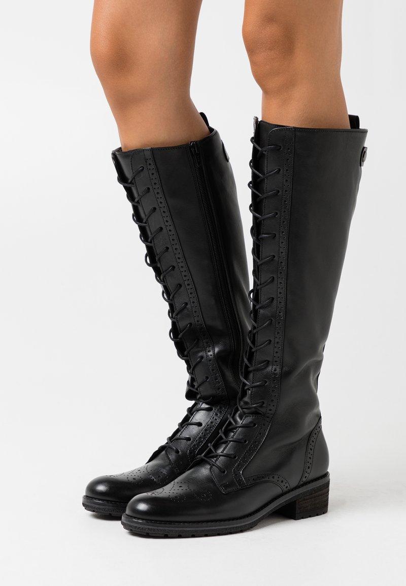 Gabor - Šněrovací vysoké boty - schwarz