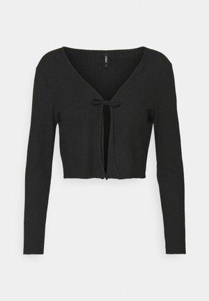ONLNELLA TIE CARDIGAN - Cardigan - black
