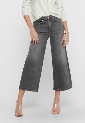 Flared Jeans - medium grey denim
